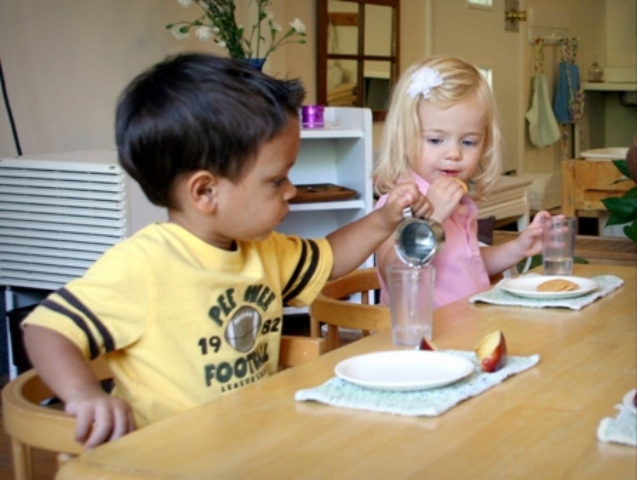 2-3 year old Montessori Program snack time